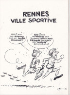 25643 -RENNES 35 France -capitale Meandres Circulation -commercants Centre Ville -1982 Voiture Dessin Sport Course - Rennes
