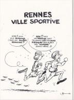25643 -RENNES 35 France -capitale Meandres Circulation -commercants Centre Ville -1982 Voiture Dessin Sport Course