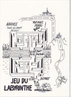 25644 -RENNES 35 France -capitale Meandres Circulation -commercants Centre Ville -1982 Voiture Dessin Labyrinthe Plan - Rennes