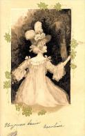 [DC2537] CPA - DONNA IN MEZZO AI FIORI - Viaggiata - Old Postcard - Femmes