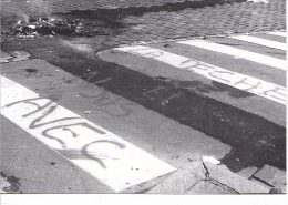 25649 -RENNES 35 France -manifestations 4 Fevrier 1994 -pecheurs -Bouquinerie Quais- Photo Douliery -1 Place Parlement - Rennes