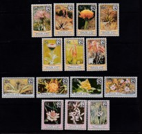 SWAZILAND, 1980, Mint  Lightly Hinged Stamps, Definitives Flowers, 339=353 , #6636 14 Values Only - Swaziland (1968-...)