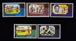 SWAZILAND, 1981, Mint  Lightly Hinged Stamps, King Sobhuza, 378=383, #6666   5 Values Only - Swaziland (1968-...)