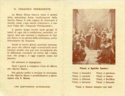 Santino Depliant Antico VIENI O SPIRITO SANTO! - M33 - Religione & Esoterismo