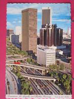 Etats Unis - Californie - Los Angeles - Downtown And Harbor Freeway - Jolis Timbres - Scans Recto-verso - Los Angeles