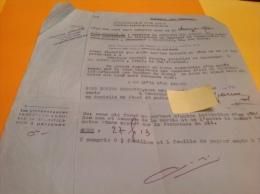 Tribunal Des Pensions La Seyne Sur Mer Marseille Aux En Provence  En L état - Factures & Documents Commerciaux