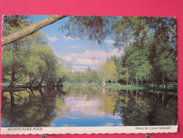 Etats Unis - Washington - Manito Park Pond - Joli Timbre - Scans Recto-verso - Etats-Unis