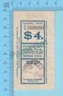 Marcophilie1922 Postal Note ( $4.00  Recu De Poste , Timbre De Roxtonfalls  Quebec Canada ) - Canada