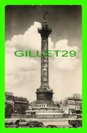 PARIS (75) - COLONNE DE JUILLET (1831-1840) - ANIMÉE DE VIEILLES VOITURES - ANDRÉ LECONTE - ED. D'ART GUY - Other Monuments