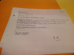 Clichy 1989 à L Attention Du Responsable Export Granges Sur Vologne - Factures & Documents Commerciaux