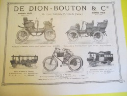 De DION-BOUTON/Puteaux /Voiture-Voiturette-Tricycle-Omnibus-Char/BOTIAUX /Levallois/1901  ILL72 - Automobile