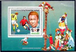 CENTRAFRIQUE    BF De LUXE  N°  702  * *   Cup 1986  Football Soccer Fussball Pelé - 1986 – Messico