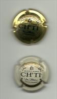 Lot De 2 Capsule De Biere Ch'ti, Yves Castelain, Biere De Garde Brassée à L'ancienne - Bier
