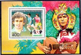 CENTRAFRIQUE    BF De LUXE  PA 330  * *   Cup 1986  Football Soccer Fussball  Platini - 1986 – Messico