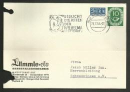 ALLEMAGNE / Carte - Card / STUTTGART 1953 Oblitération Mécanique / Singe - Apen