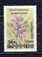 KYRGYZSTAN Kirghizistan 2000, FLEUR / FLOWER, SURCHARGE, Variation B, OVPT. R1489 - Kirghizistan