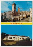 CPM - PONTEILLA (Pyrénées Orientales) - Les 2 Clochers - Le Foyer Et L'Hotel De Ville (Vue Multiple X2) - Francia
