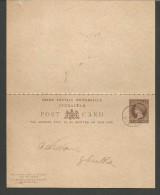 IPE22--- POSTMARK,  GIBRALTAR,       VICTORIA,  DOPPIO, INTERO,  USED, - Gibraltar