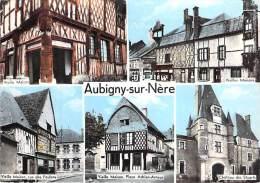 BERRY - Cher 18 - AUBIGNY SUR NERE : Multivues Dentelée Colorisée - CPSM  Format CPA GF - Aubigny Sur Nere