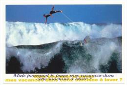 Série Drole D été - Tampon Espace Culturel Paul Ricard Sport  Surf à  Hawaii Photo Cazenave  1995 - Postkaarten