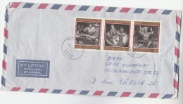1984 Air Mail AUSTRIA COVER Multi Stamps STATE OPERA Threatre To Germany Music - Teatro