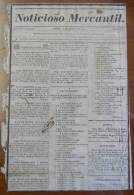 BP246 CUBA SPAIN NEWSPAPER ESPAÑA 1829 NOTICIOSO MERCANTIL 01/08/1829 34X23cm - Tijdschriften