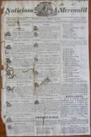 BP248 CUBA SPAIN NEWSPAPER ESPAÑA 1827 NOTICIOSO MERCANTIL 12/04/1827 22X34cm - Magazines & Newspapers