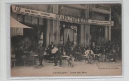 Cavaillon Grand Café Riche Bière Pousset Tampon Infanterie  Rare - Cavaillon