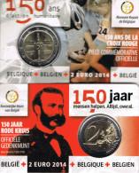 BELGIE - COINCARD 2 € 2014 BU - 150 JAAR RODE KRUIS - Belgio