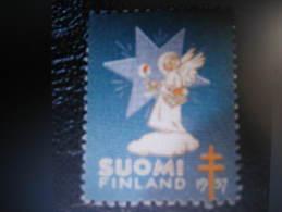 1957 Angel Tuberculose Tuberculosis Vignette Poster Stamp Label Health Sante Finland - Finland