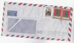 Air Mail ECUADOR COVER  Stamps BEATIFICATION Of MECEDES DE JESUS MOLINA , CACIQUES INDOAMERICANOS Religion Art - Ecuador
