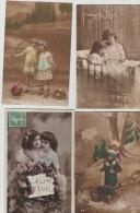 """8  CPA     Deux  Filles   - Bonne Année"""" , """"Bonne  Fete"""" ,1er  Avril - Fantaisies"""