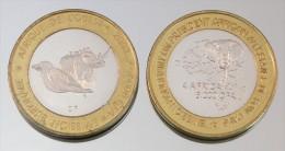 Burkina Faso 6000 CFA 2003 Rhinoceros VIP Monnaie Bimétallique Précieuse Animal - Burkina Faso