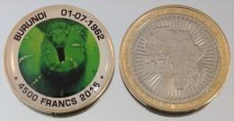 Burundi 4500 Francs 2015 Bimetal Couleurs Animal - Burundi
