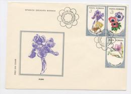 ROUMANIE - FLEURS - 1er JOUR DU 25/6/1986 DE BUCAREST N° Yt - FDC