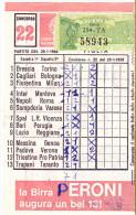 SCHEDINA TOTOCALCIO N.22 DEL 28-1-1968 - GIOCATA - Non Classificati