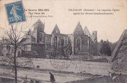 Ax- Cpa TILLOLOY - La Superbe église Après Les Divers Bombardements - Autres Communes