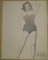Dessin Au Crayon-Illustrateur -Marie-Louise Mourer, Dite Martine Carol, Est Une Actrice Française (3) - Drawings
