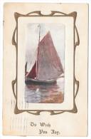 Sailboat To Wish You Joy Vintage 1912 Davidson Brothers Postcard - Non Classificati