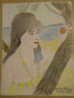 Dessin Au Crayon-Illustrateur -Michele Mahaut Actrice   (3) - Dessins