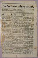 BP271 CUBA SPAIN NEWSPAPER ESPAÑA 1830 NOTICIOSO MERCANTIL 16.03.1830 37X24cm - Magazines & Newspapers