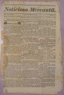 BP272 CUBA SPAIN NEWSPAPER ESPAÑA 1830 NOTICIOSO MERCANTIL 15.03.1830 37X25cm - [1] Until 1980
