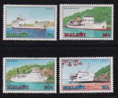 MALAWI, 1985, Mint  Lightly Hinged Stamps , Boats On Lake Malawi, 449-452, #4604 - Malawi (1964-...)