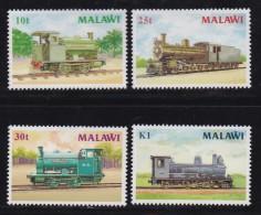 MALAWI, 1987, Mint  Lightly Hinged Stamps , Locomotives, 481-484, #4611 - Malawi (1964-...)