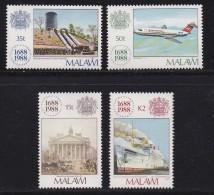 MALAWI, 1988, Mint  Lightly Hinged Stamps , 300 Years LLoyds, 517-520, #4617 - Malawi (1964-...)