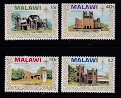 MALAWI, 1989, Mint  Lightly Hinged Stamps , Christmas Churches, 541-544, #4622 - Malawi (1964-...)