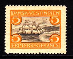 Danish West Indies MH Scott #39 5fr Sailboat In St. Thomas Harbour - Danemark (Antilles)