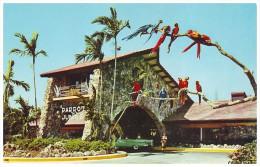 PARROTS. UNUSUAL ENTRANCE To The PARROT JUNGLE - MIAMI, FLORIDA (Unused Postcard - USA, 1960's) - Birds