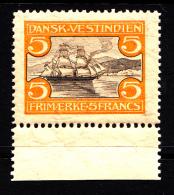 Danish West Indies MNH Scott #39 5fr Sailboat In St. Thomas Harbour - Danemark (Antilles)