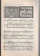 Musique: PANIS ANGELICUS.    Par Paul FAUCHEY.   1898. - Estampes & Gravures